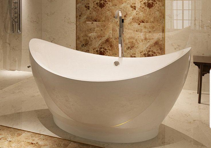 White Helixbath Eleusis bathtub deep soaking Oval Acrylic tub   Home & Garden, Home Improvement, Plumbing & Fixtures   eBay!