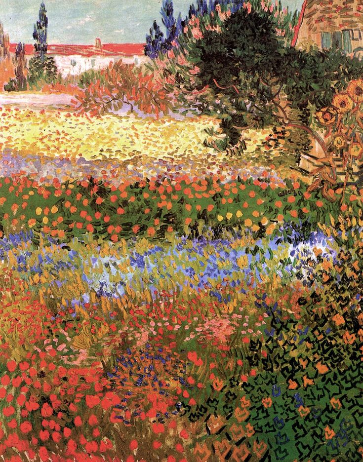 Flowering Garden - Vincent van Gogh 1888
