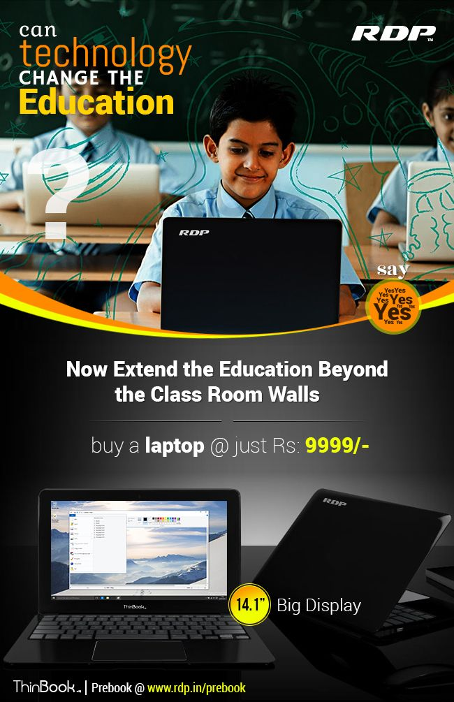 Now Extend the Education Beyond the Class Room Walls Buy a #Laptop @ just Rs: 9999/-