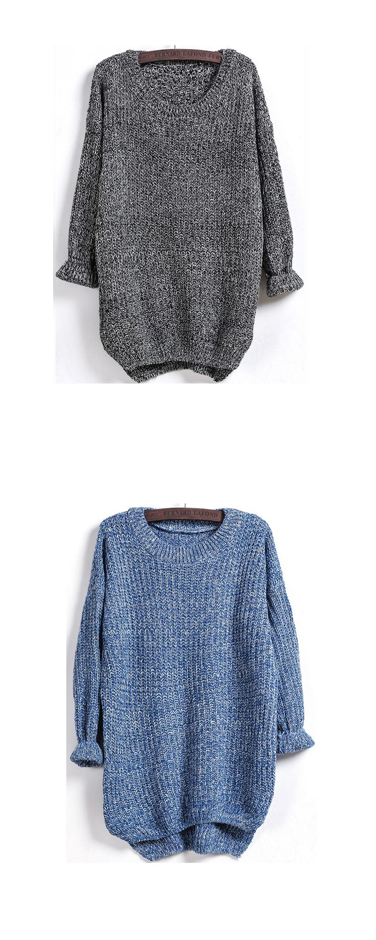 Super cozy fashion !This loose pullover sweater is my closet stable . Always be casual and style with dip hem design !