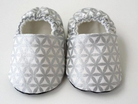 Baby Shoes - Metallic Silver