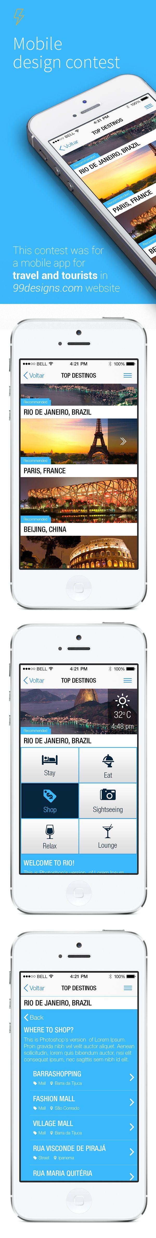 Travel app proposal by Daniel de Paola, via Behance