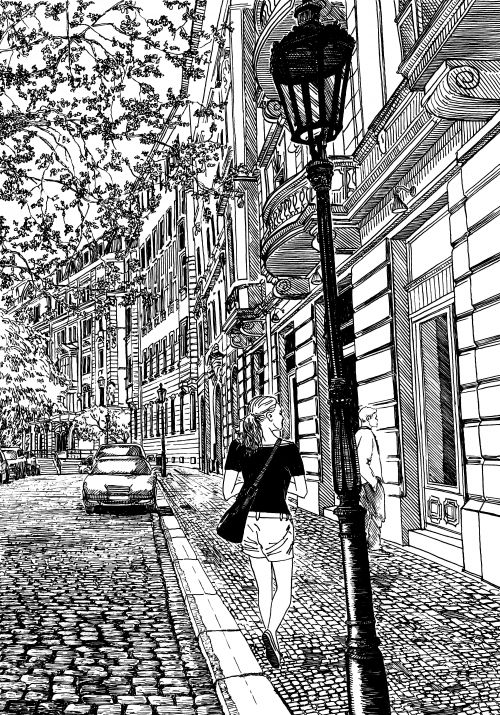 street scene coloring pages - photo#5