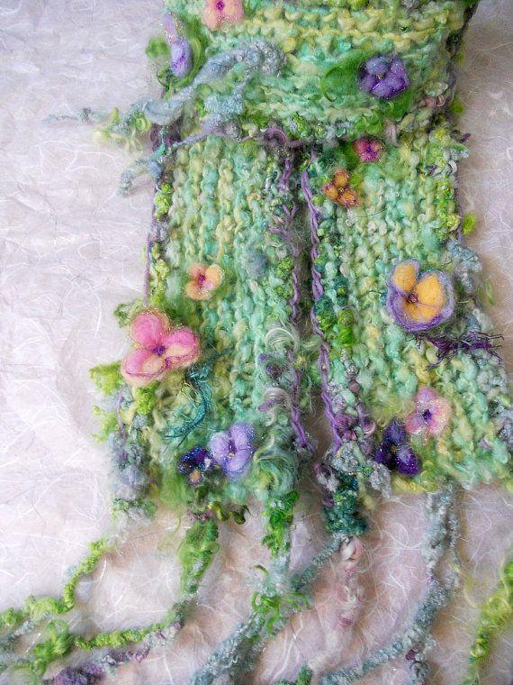 knit scarf soft handknit winter fantasy artyarn par beautifulplace