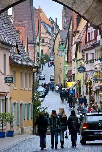 Rothenburg, Germany  So many great memories made here in this gorgeous and very old city in Germany
