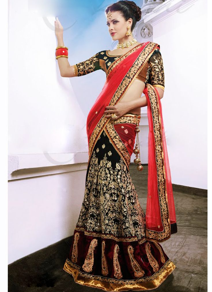 Luxurious Georgette & Net #Lehenga Saree