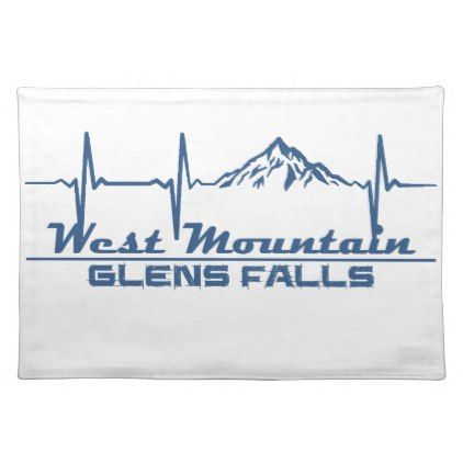 West Mountain  -  Glens Falls - New York Cloth Placemat - fall decor diy customize special cyo