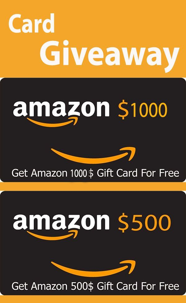 If You Want To Win A 500 And 1 000 Amazon Gift Card Click On The Link Inside The Pin In 2021 Amazon Gift Card Free Best Gift Cards Free Amazon Products