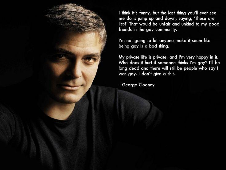 Is George Cloony Gay 47