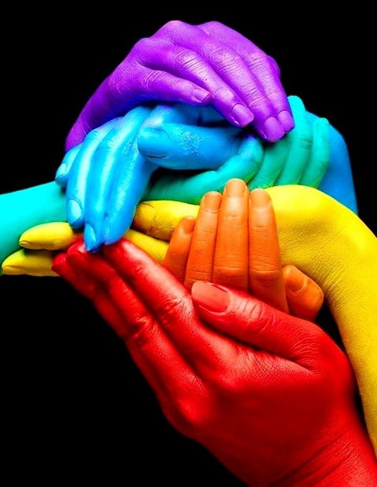 #Rainbow #colors ToniK ❖de l'arc-en-ciel❖❶ hands body paint Jam photography