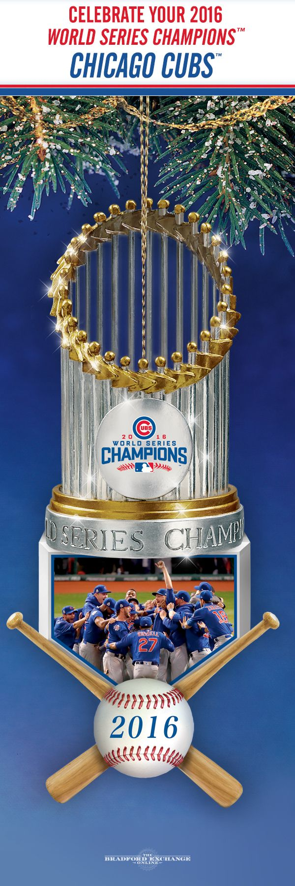Look what we've got on deck for the Christmas season... It's a festive celebration of your history-making Chicago Cubs.
