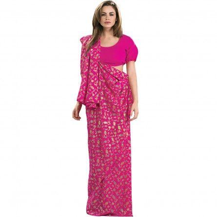 Pink Indian Sari Womens Costume
