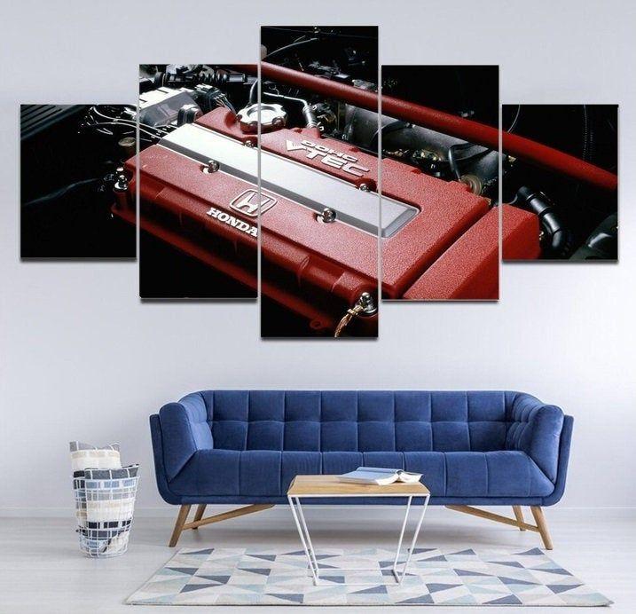 Honda Vtec Engine Wall Art Jdm Engine Canvas Framed B16a Etsy Honda Vtec Vtec Jdm