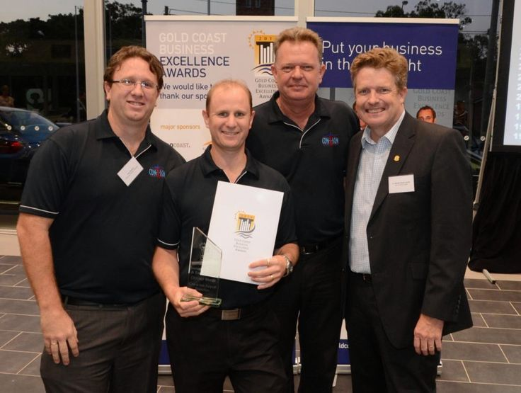 Con-X-ion awarded the Gold Coast Business  Excellence Award in Tourism, Hospitality and Events (October 2014)