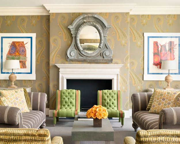 Kit Kemp is a genius at mixing color and pattern.