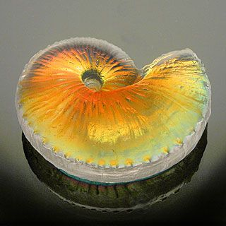 Light Opera - blown glass - art glass, paperweights, vases, kaleidoscopes : art blown home accents shell: