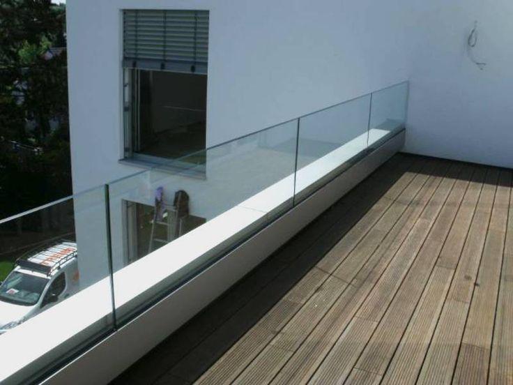 Ganzglas Geländer Unten Eingespannt Von Glas Hetterich