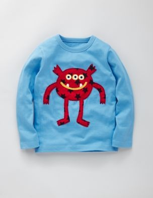 Every year love to get the boys Boden Monster applique shirts