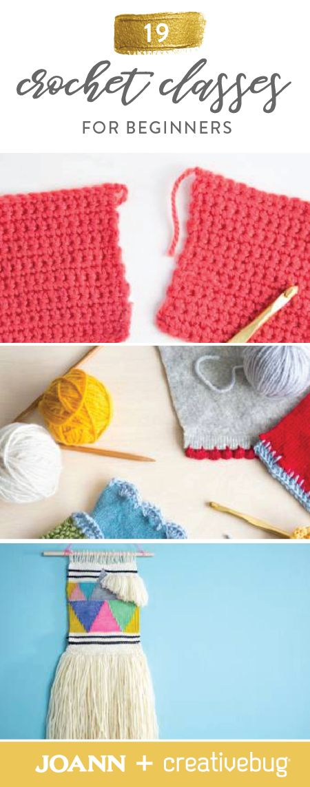 Going back to the basics when it comes to creating works of art with yarn has never been easier. Thanks to these 19 Crochet Classes for Beginners from Jo-Ann and Creativebug, you can learn to create woven wall hangings, potholders, rugs, and more.