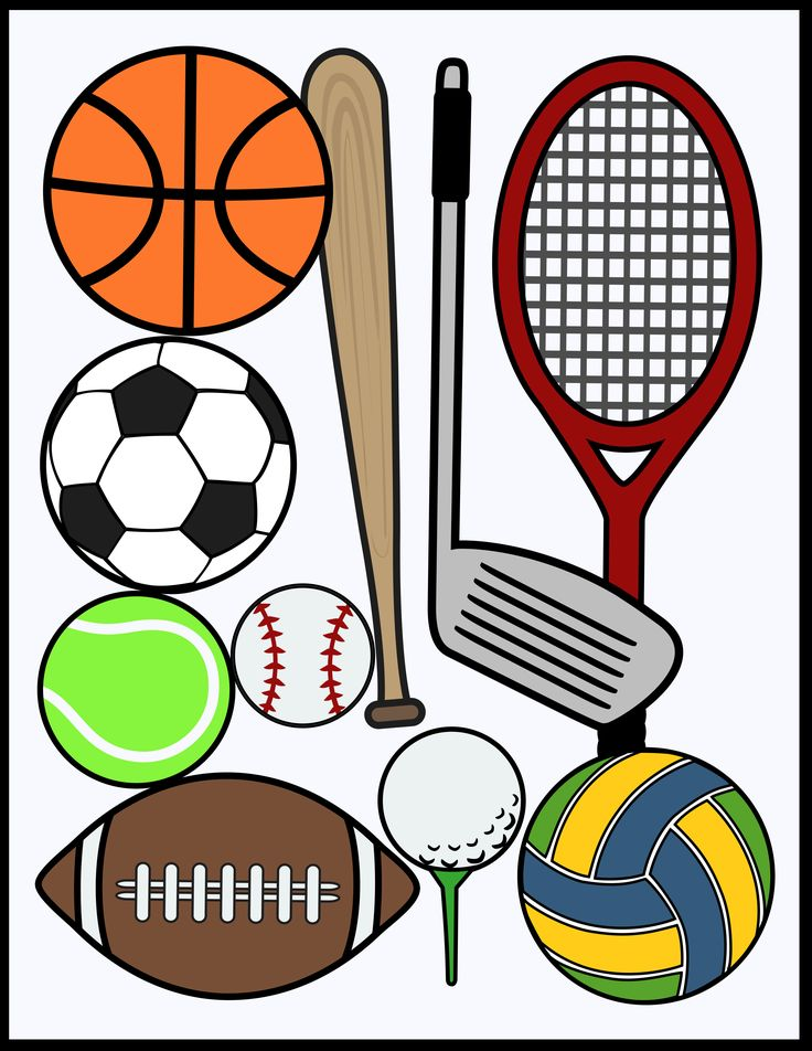 Sports Clip Art for Commercial Use (PDF and PNG) Clip
