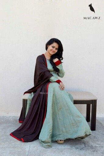 #macawz #designer #instafashion #anarkali #brocade #teal #brown #banarasi #classy #red