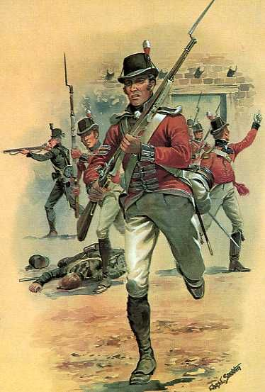 Royal Marines At The Capture Of Oswego - 5th May 1814.
