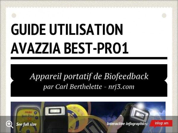 ** Guide d'utilisation Avazzia Best-Pro1 ** Appareil portatif de Biofeedback pour le soulagement de la douleur, l'amélioration des performances athlétiques et la relaxation musculaire. Visiter notre site WEB www.nrj3.com pour plus d'informations