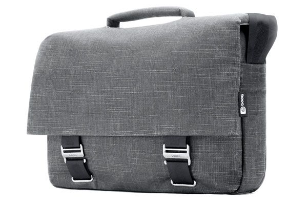 Mamba courier 15, gray | Elegant messenger-style brief for 15-inch MacBook Pro