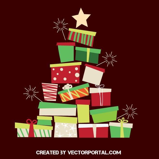 Christmas Gifts Vector Graphics Christmas Gift Vector Gift Vector Christmas Gifts