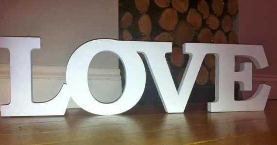large white wooden letters 2