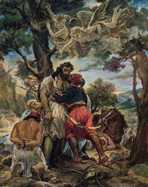 """Ανδρέας Γεωργιάδης ο Κρης (1892-1981) """"Το φίλημα του Ιμπραήμ, στο νεκρό…"""
