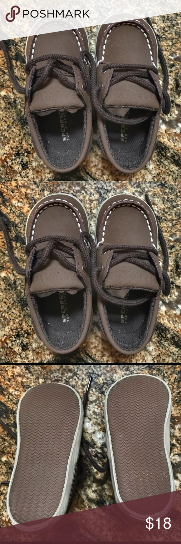 Sperry Boat Shoes Never worn, new in box toddler Sperry boat shoes in Cigar Brown, size 4. Sperry Top-Sider Shoes Baby & Walker