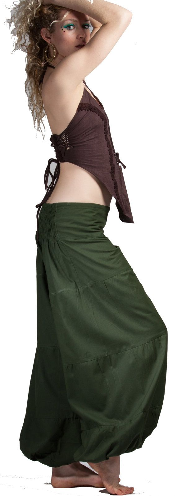 Harem pants ASSORTED COLOURS yoga trousers harem by GekkoBoHotique