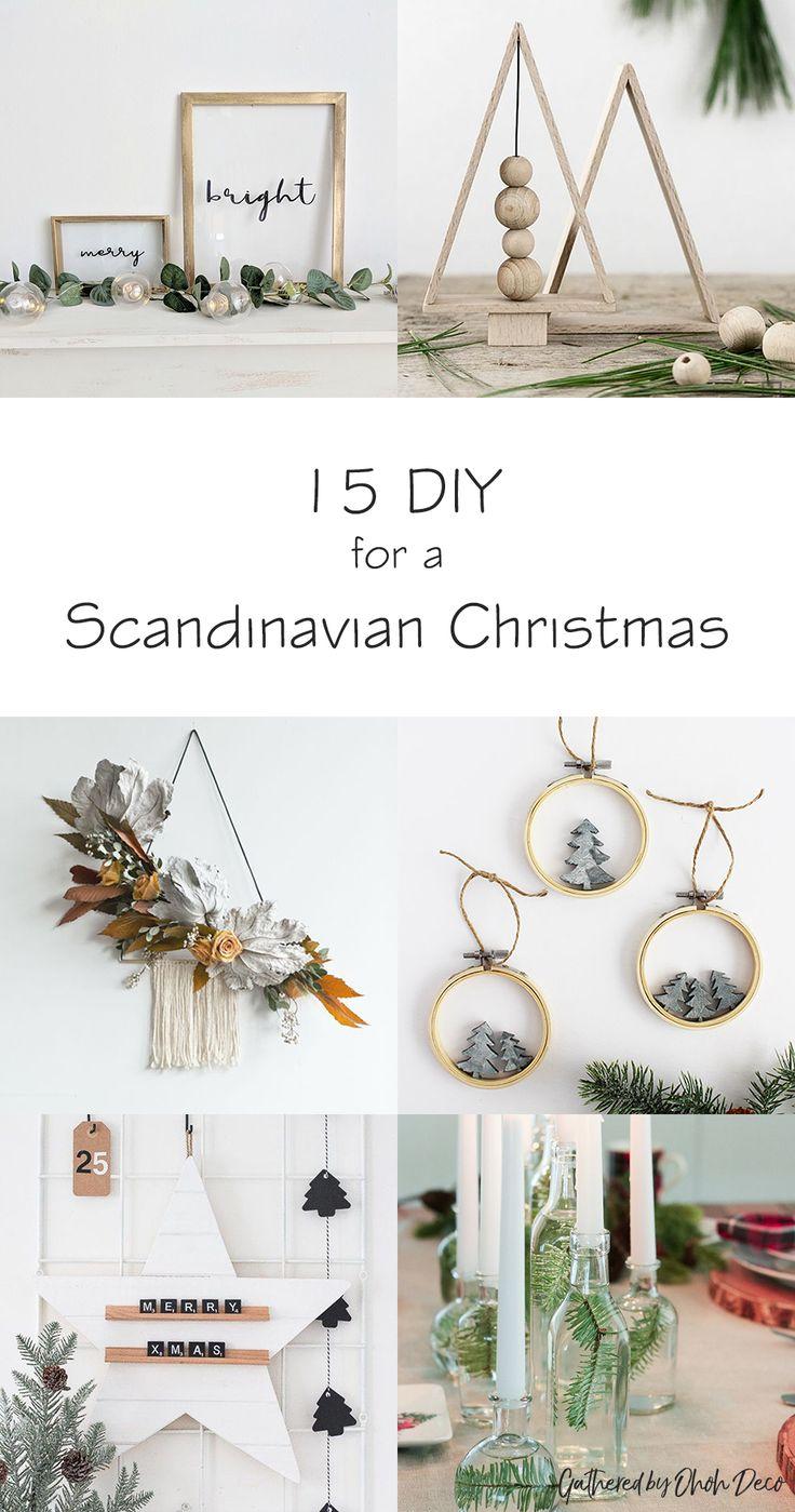 15 DIY to create a scandinavian Christmas decor - Ohoh Deco#modernchristmas #sca...