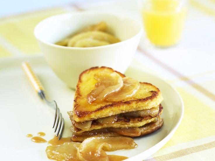French Toast mit Karamell-Äpfeln   Zeit: 20 Min.   http://eatsmarter.de/rezepte/french-toast-mit-karamell-aepfeln