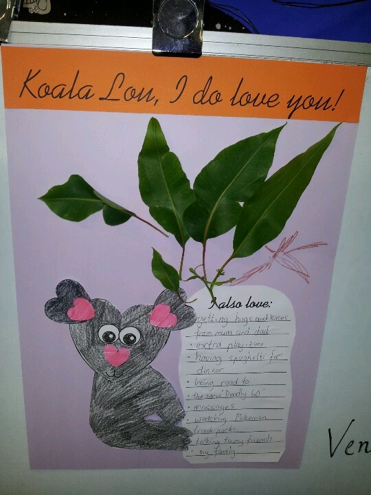 Koala Lou - List of things we love & heart shaped koala