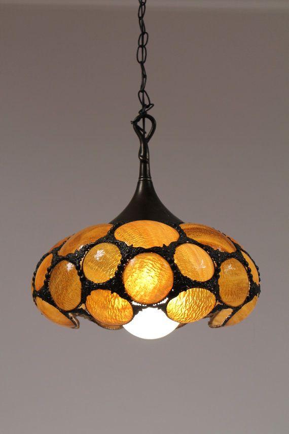 ART NOUVEAU TIFFANY 16 inches pendant chandelier