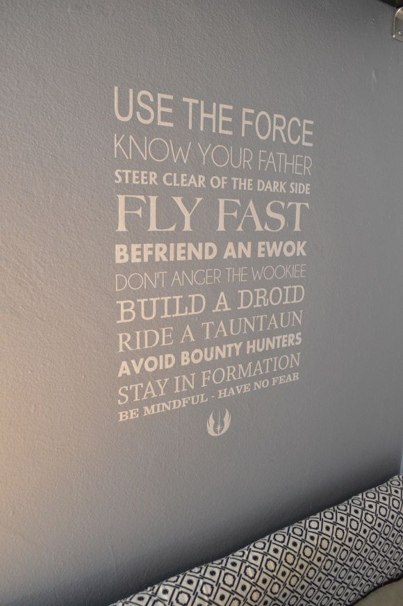 Star Wars Room..... my son's need this (secretly so do I! )