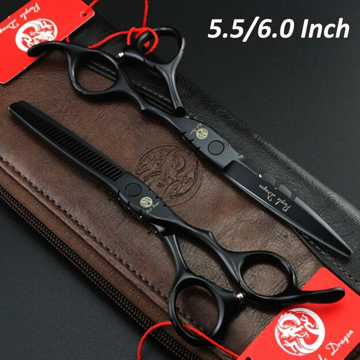 Professional Japan Hair Scissors Set 5.5 inch 6 inch Barber Hairdressing Cutting Thinning tijeras peluqueria with Comb Bag