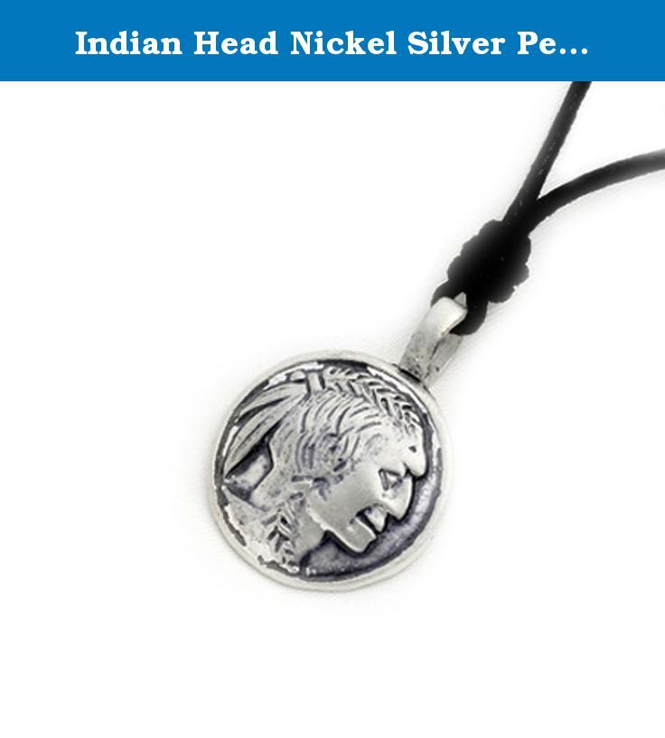 Indian Head Nickel Silver Pewter Charm Necklace Pendant Jewelry. Indian Head Nickel Silver Pewter Charm Necklace Pendant Jewelry.