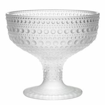 The perfect frosty decoration for winter... and it's useful, too! Iittala Kastehelmi Dewdrop Matte Frosted Footed Bowl - $65