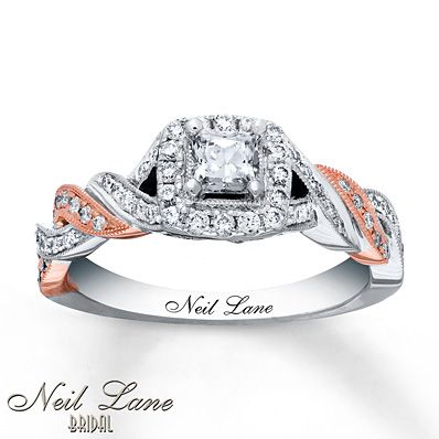 Neil Lane Engagement Ring 3/4 ct tw Diamonds 14K Two-Tone Gold