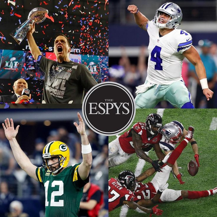 There are plenty of NFL stars nominated for #ESPYS. Check the link in our bio to cast your vote!