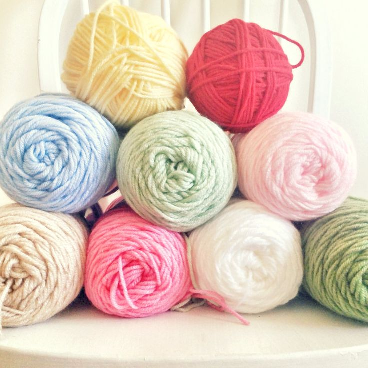 hopscotch lane: crochet Cath Kidston yarn colors.