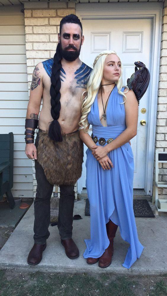 DIY Khaleesi Halloween Costume Idea