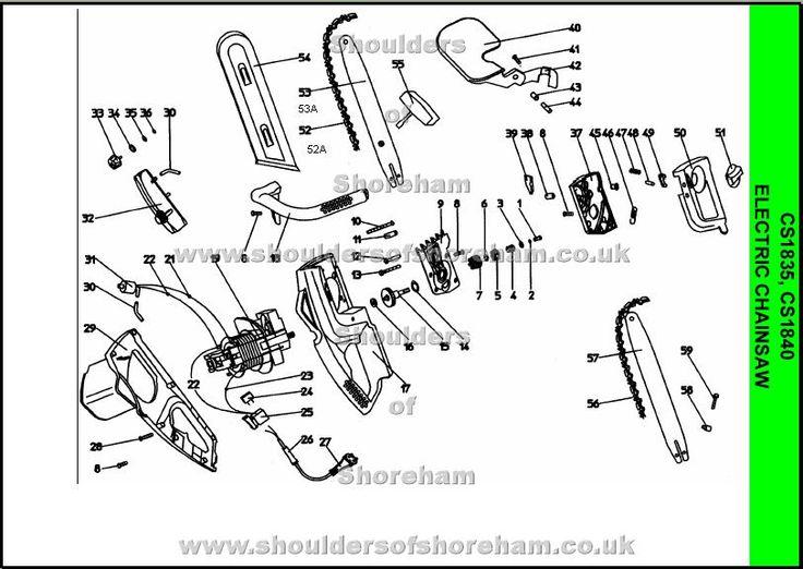 Ryobi CS 1835 Chainsaw Spares Diagram
