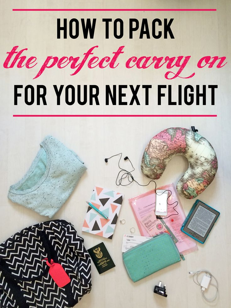 How to pack the perfect carry on for your next flight | What to pack for the flight, holiday and layover, and how to keep your hand luggage within the weight limit (really) when travelling.