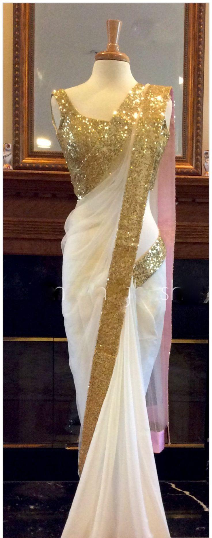 Red Georgette Saree With Golden Border|Saree|Ethnic Wear