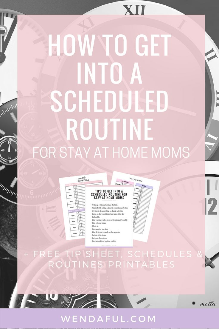 How To Get Into A Scheduled Routine for Stay at Home Moms http://www.wendaful.com/2017/04/how-to-get-scheduled-routine-going-for/