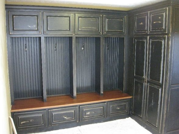 Our New Mudroom Lockers We Recently Added Space On To Our